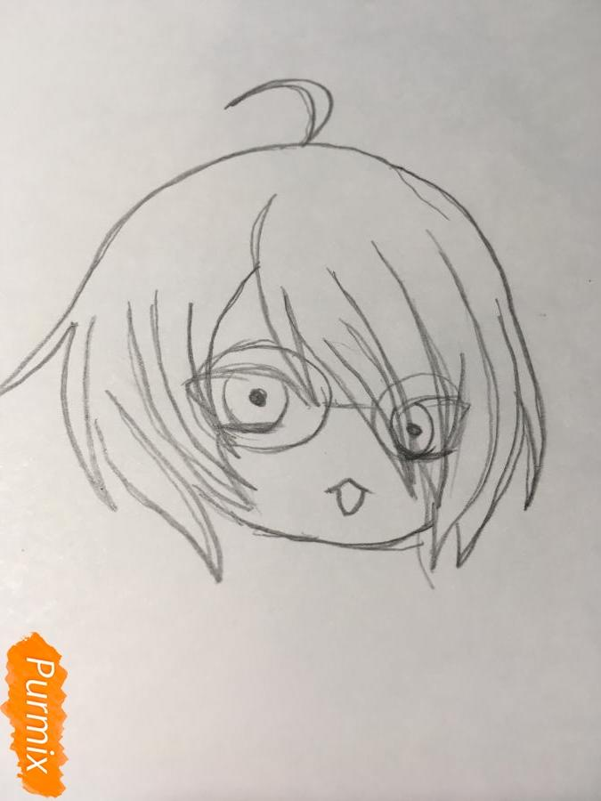 Рисуем чиби Изуми - шаг 4