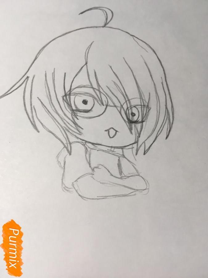 Рисуем чиби Изуми - шаг 5