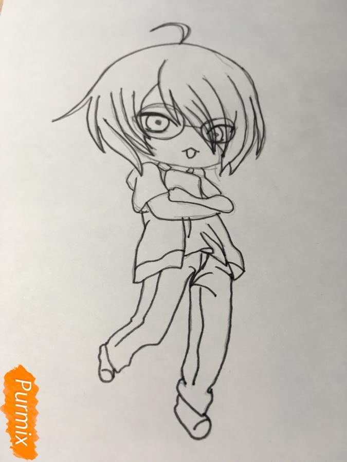 Рисуем чиби Изуми - шаг 8