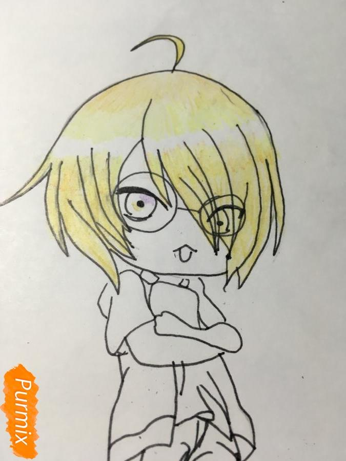 Рисуем чиби Изуми - шаг 9