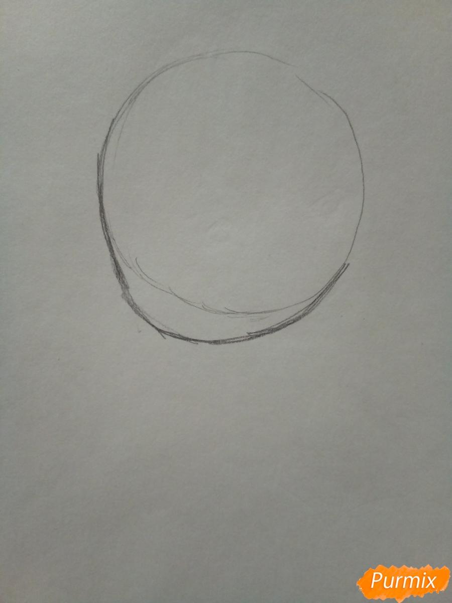 Рисуем чиби Леди Баг - шаг 1