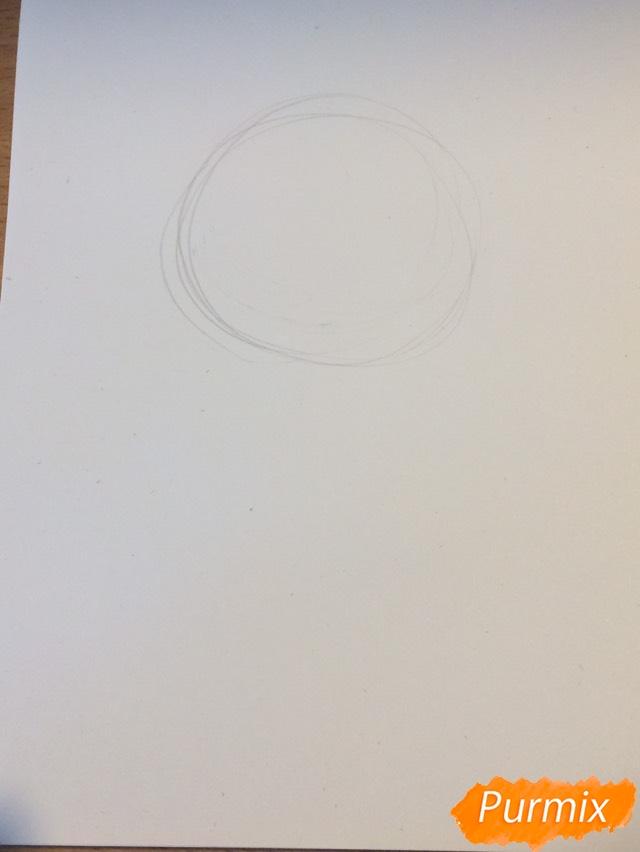 Рисуем чиби тигра карандашами - шаг 1