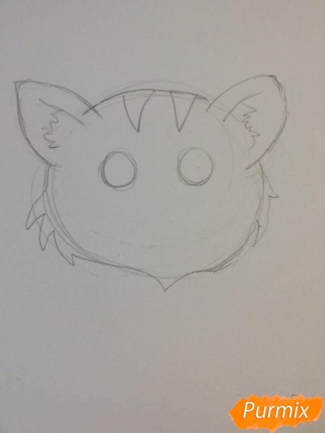 Рисуем чиби тигра карандашами - шаг 3