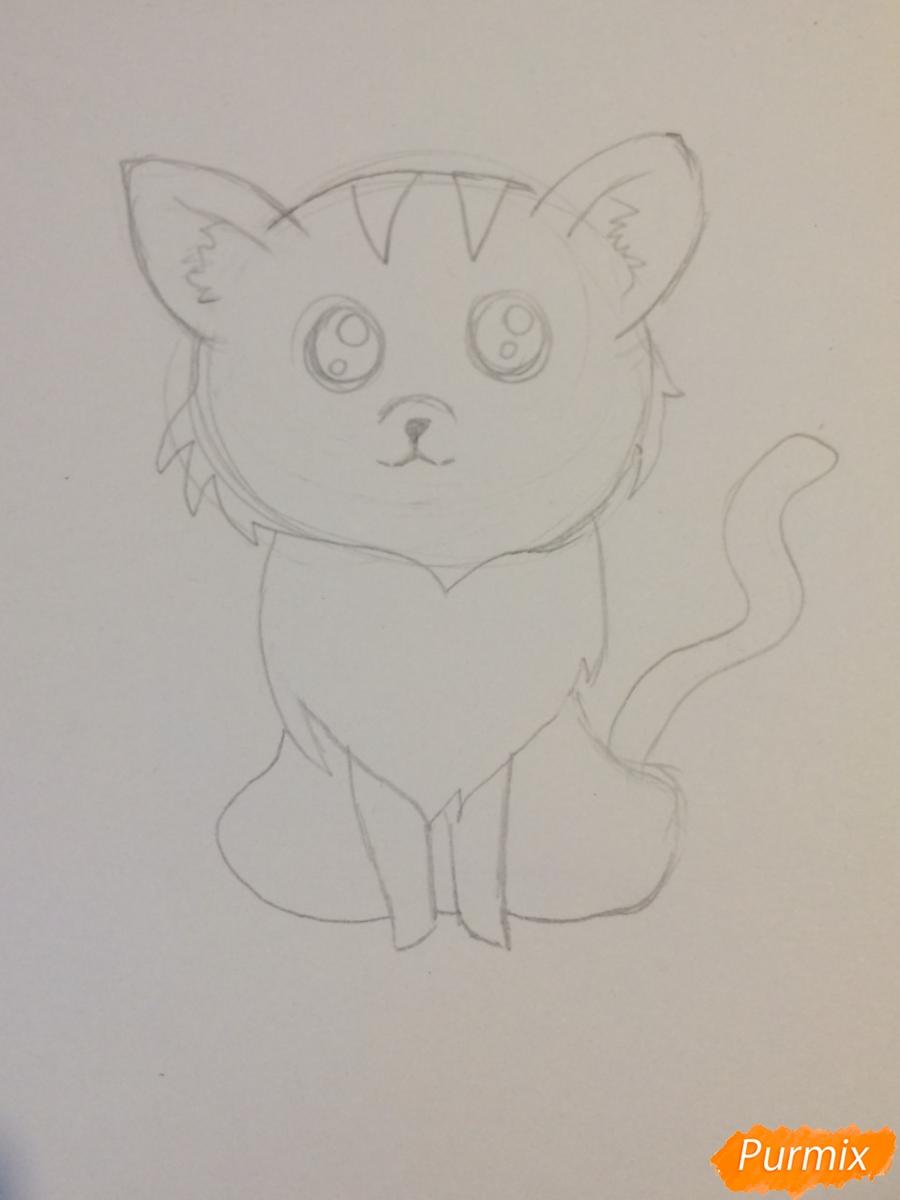 Рисуем чиби тигра карандашами - шаг 6