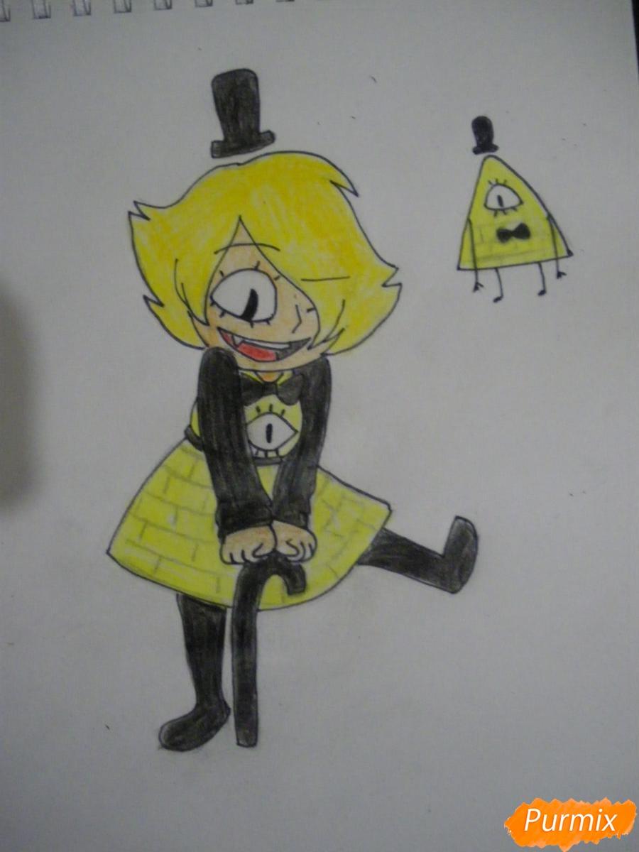 Рисуем девочку Билла Сайфера в стиле чиби - шаг 10