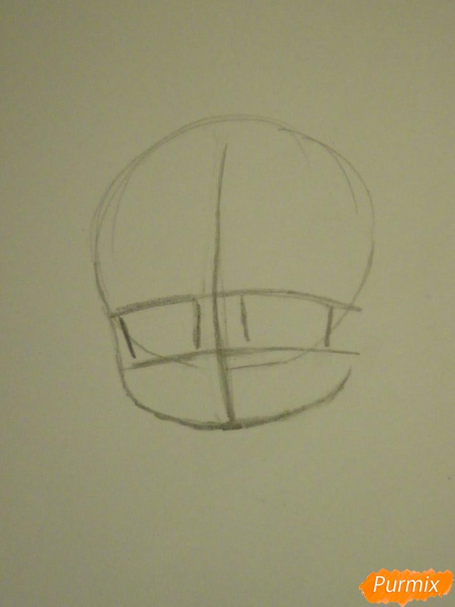 Рисуем девочку кролика в стиле чиби - шаг 1