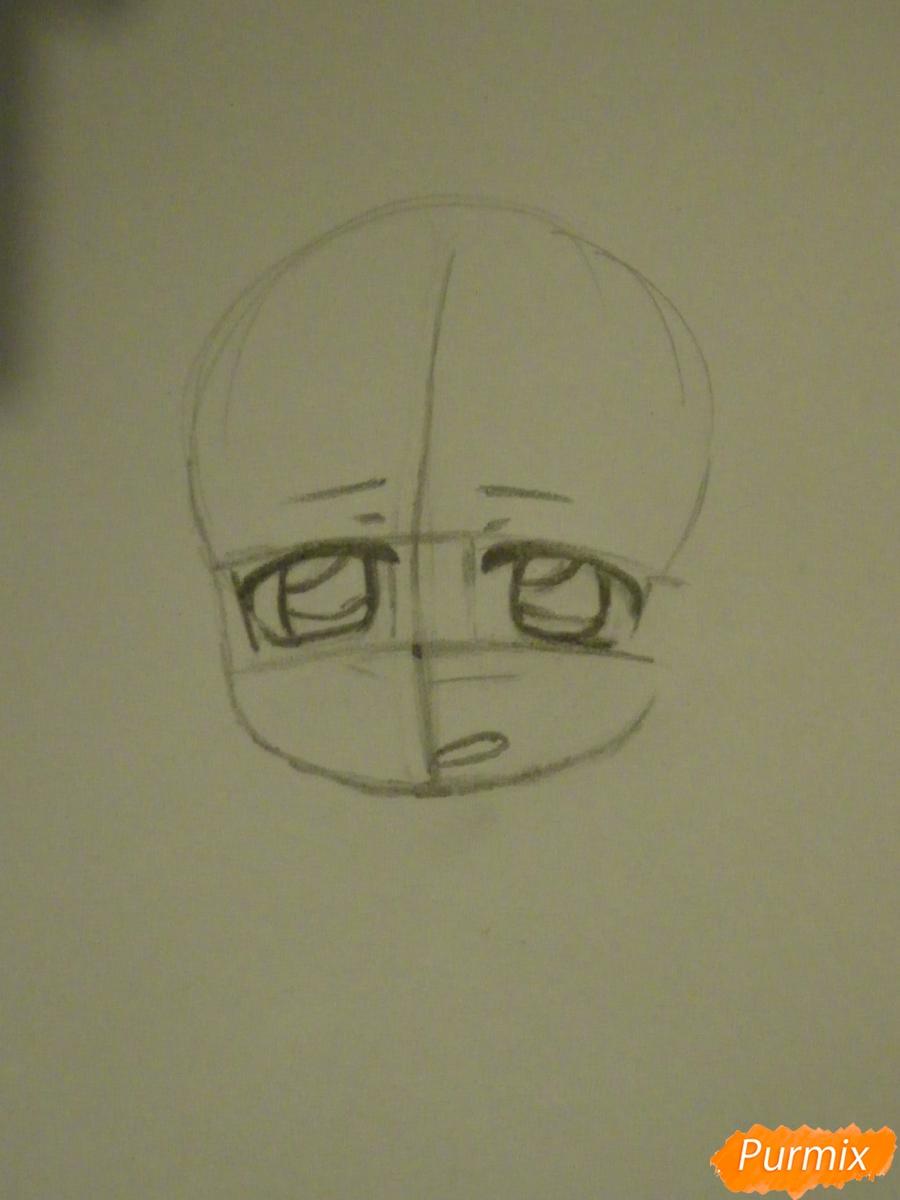 Рисуем девочку кролика в стиле чиби - шаг 2