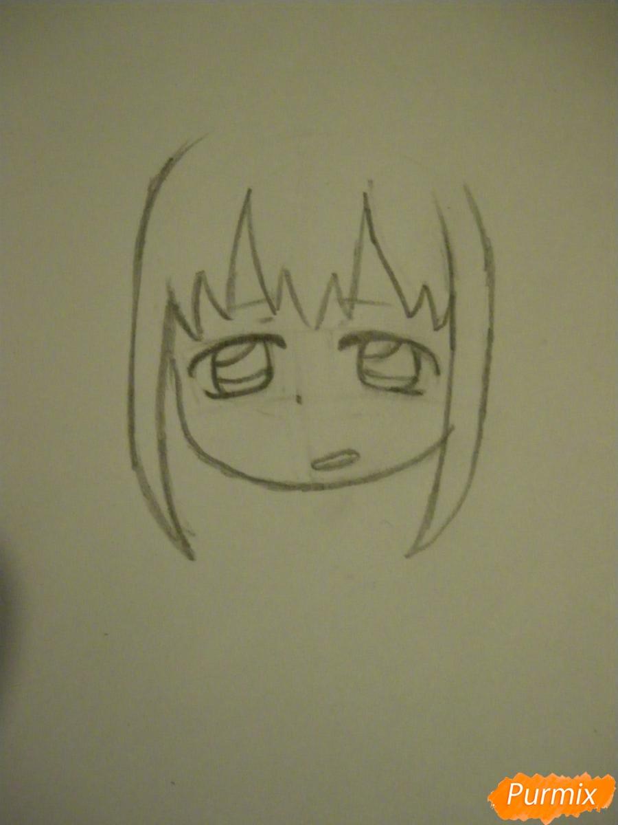Рисуем девочку кролика в стиле чиби - шаг 3