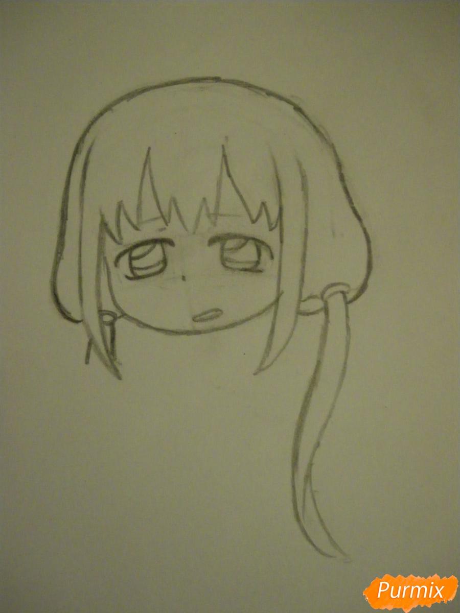 Рисуем девочку кролика в стиле чиби - шаг 4