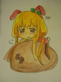 девочку кролика в стиле чиби карандашом