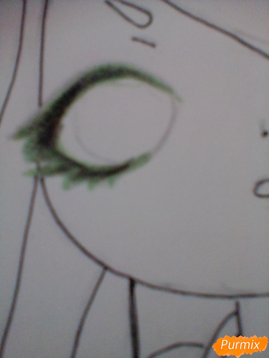 Рисуем девочку-змею в стиле чиби - шаг 8