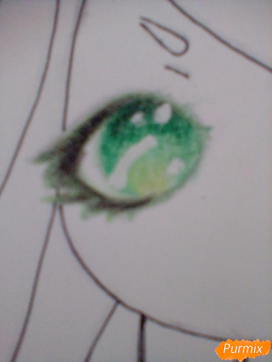 Рисуем девочку-змею в стиле чиби - шаг 9