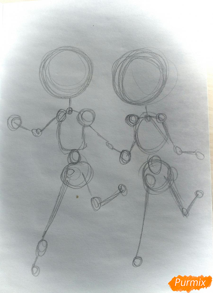 Рисуем Дина и Кастиэля в стиле чиби из Сверхъестественного - шаг 1