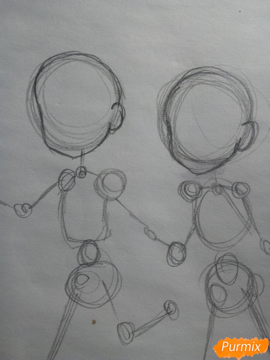 Рисуем Дина и Кастиэля в стиле чиби из Сверхъестественного - шаг 2