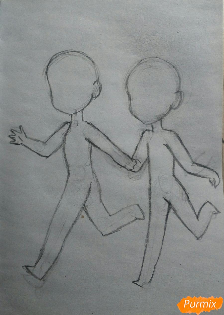Рисуем Дина и Кастиэля в стиле чиби из Сверхъестественного - шаг 3