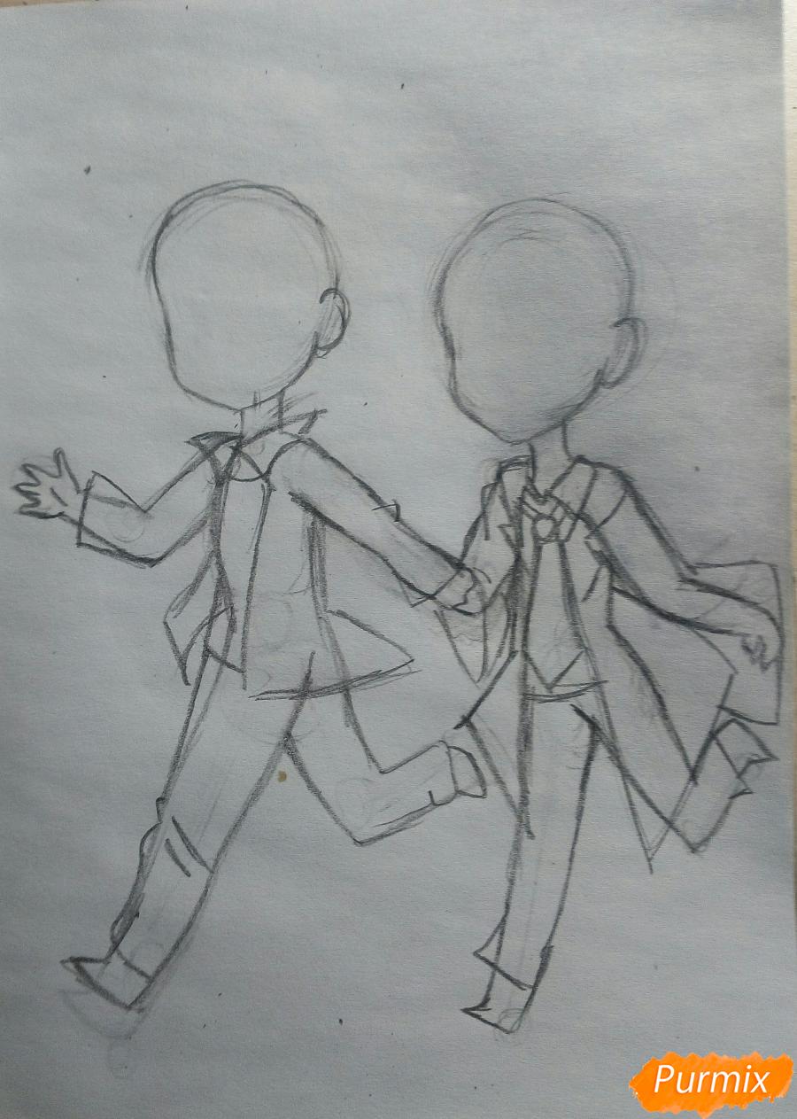 Рисуем Дина и Кастиэля в стиле чиби из Сверхъестественного - шаг 4