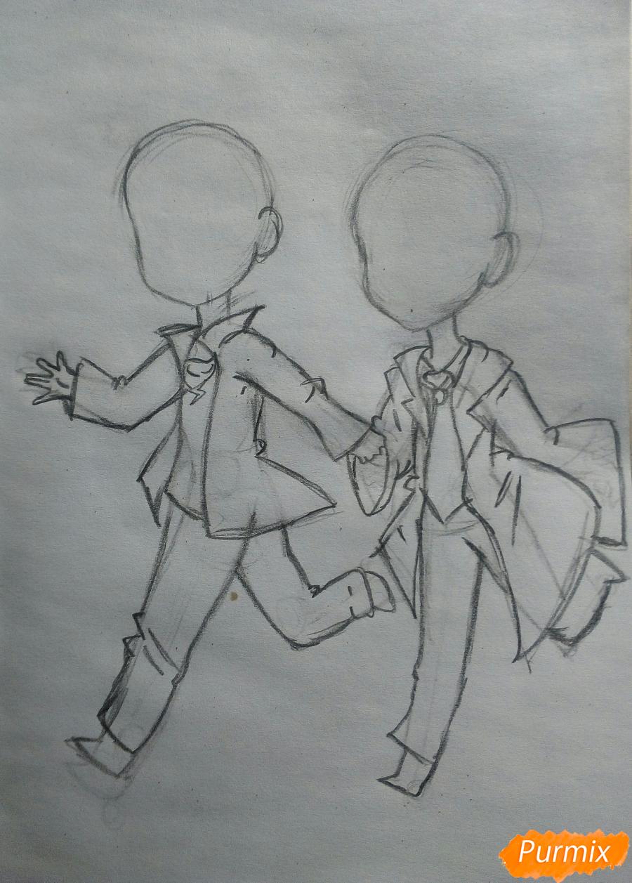 Рисуем Дина и Кастиэля в стиле чиби из Сверхъестественного - шаг 5
