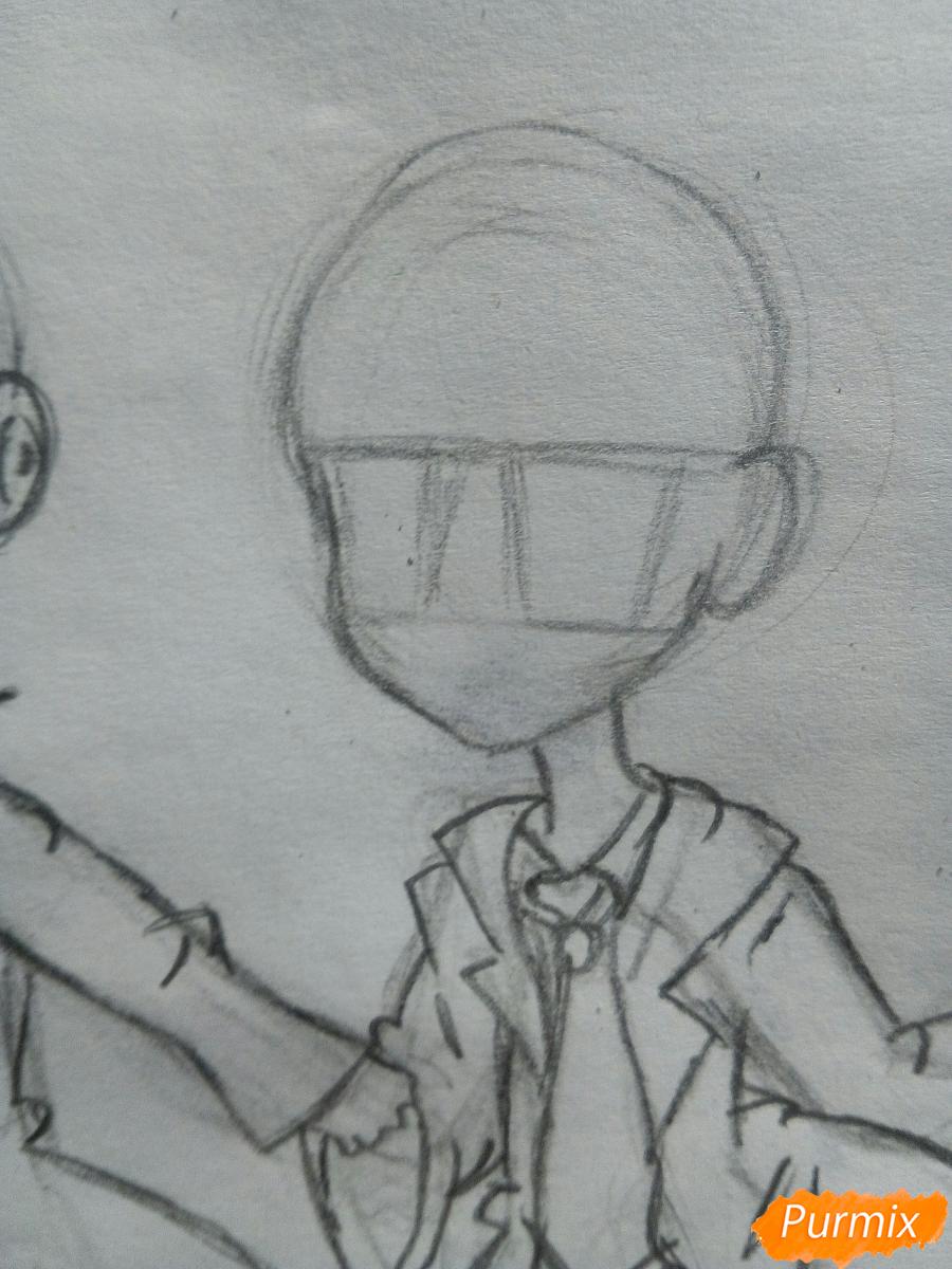 Рисуем Дина и Кастиэля в стиле чиби из Сверхъестественного - шаг 8