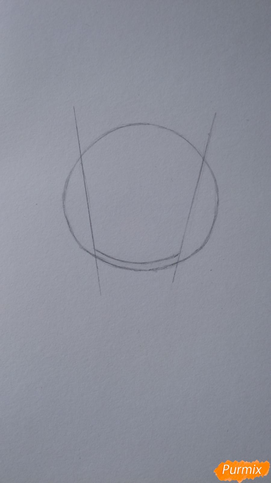 Учимся рисовать грустную девочку-чиби - шаг 2