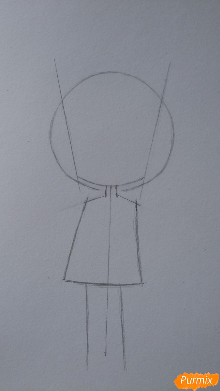 Учимся рисовать грустную девочку-чиби - шаг 4