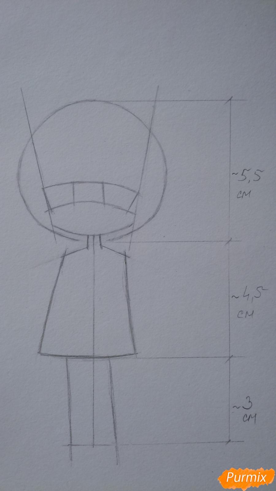 Учимся рисовать грустную девочку-чиби - шаг 5