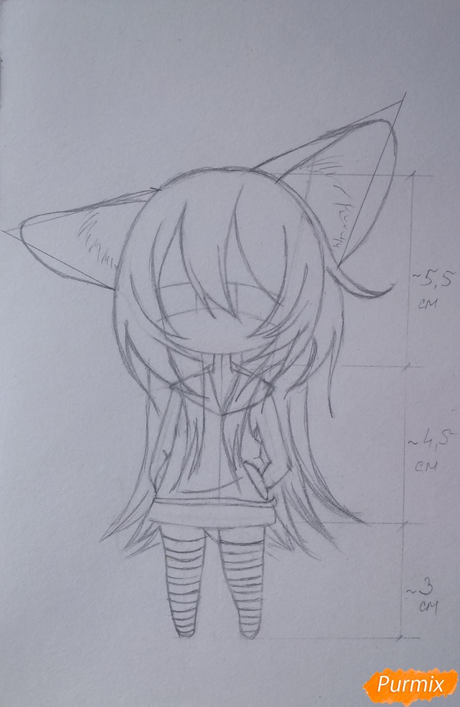 Учимся рисовать грустную девочку-чиби - шаг 9