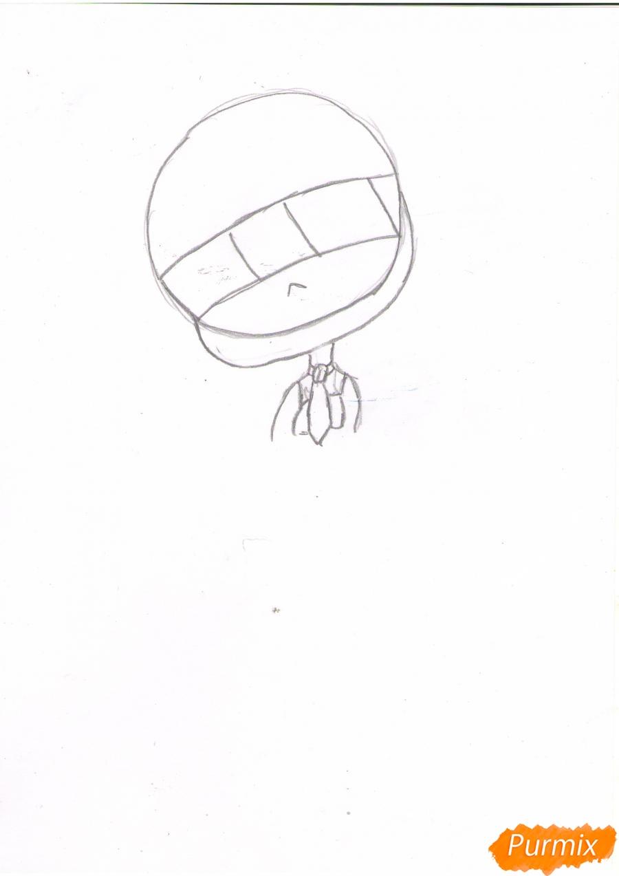 Рисуем грустную Хацунэ Мику в чиби стиле - шаг 1
