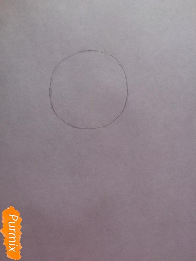 Рисуем и раскрасить чиби девочку цветными карандашами - шаг 1