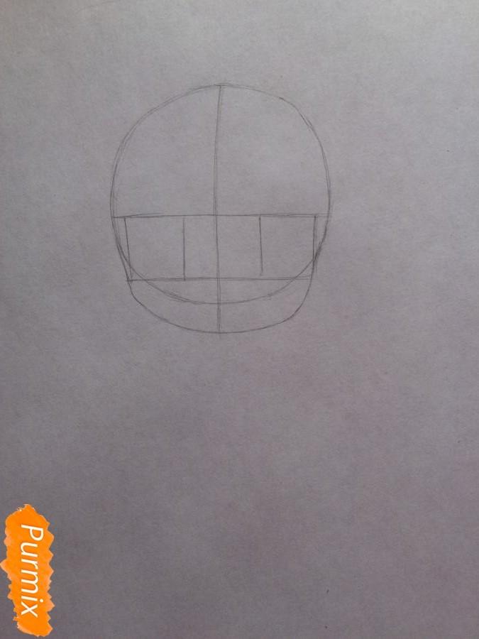 Рисуем и раскрасить чиби девочку цветными карандашами - шаг 2