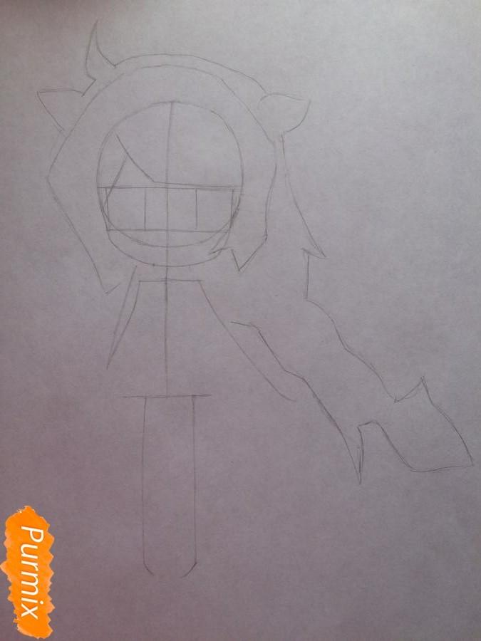 Рисуем и раскрасить чиби девочку цветными карандашами - шаг 4