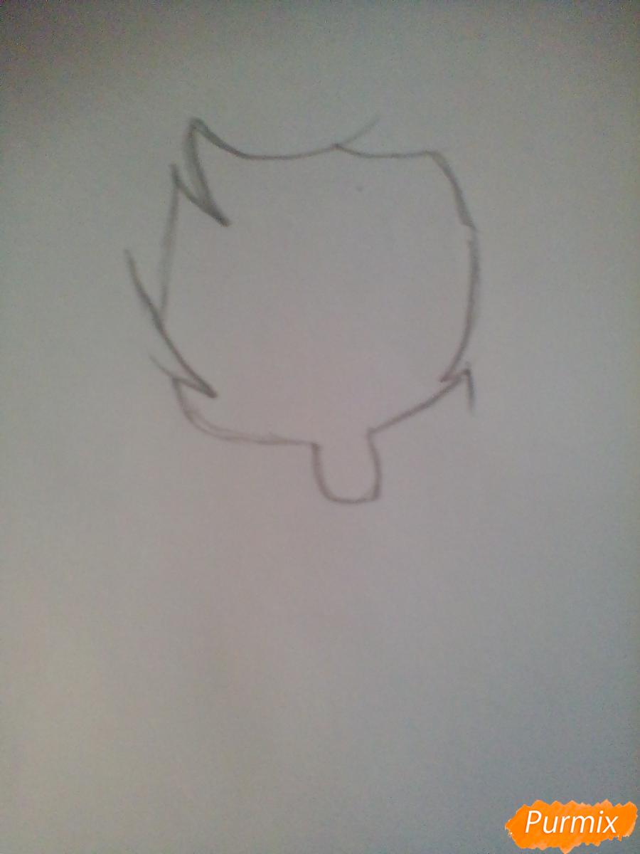 Рисуем и раскрасить девочку-ангела в стиле чиби - шаг 1