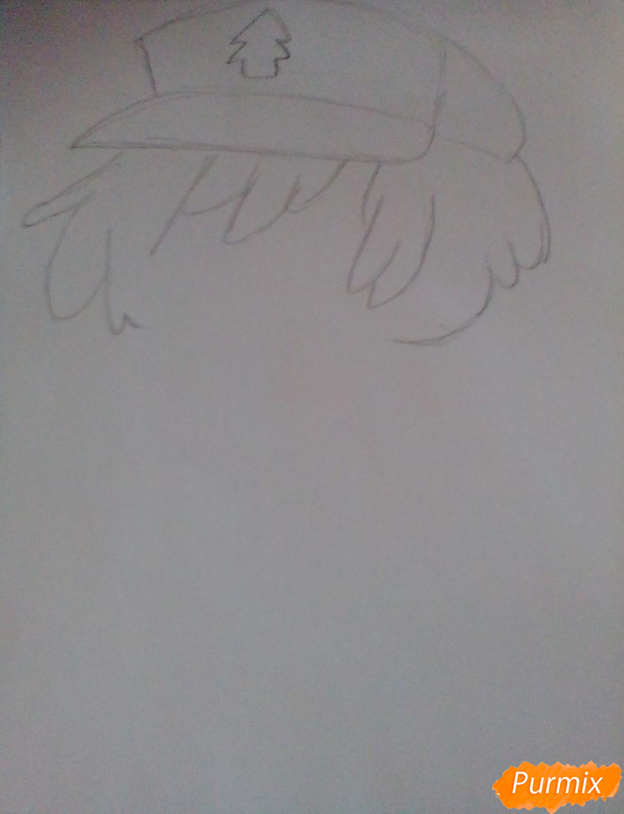 Рисуем и раскрасить Диппера в стиле чиби - шаг 1