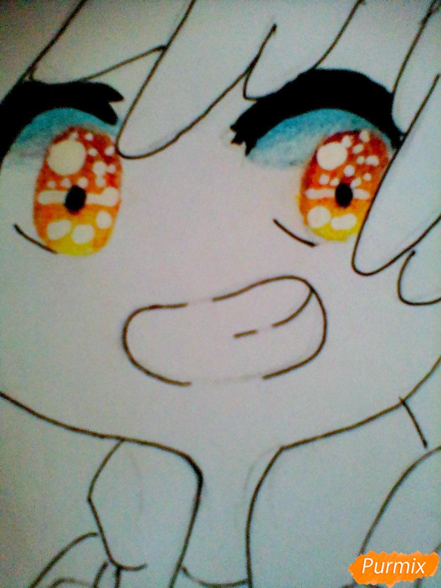Рисуем и раскрасить Диппера в стиле чиби - шаг 6