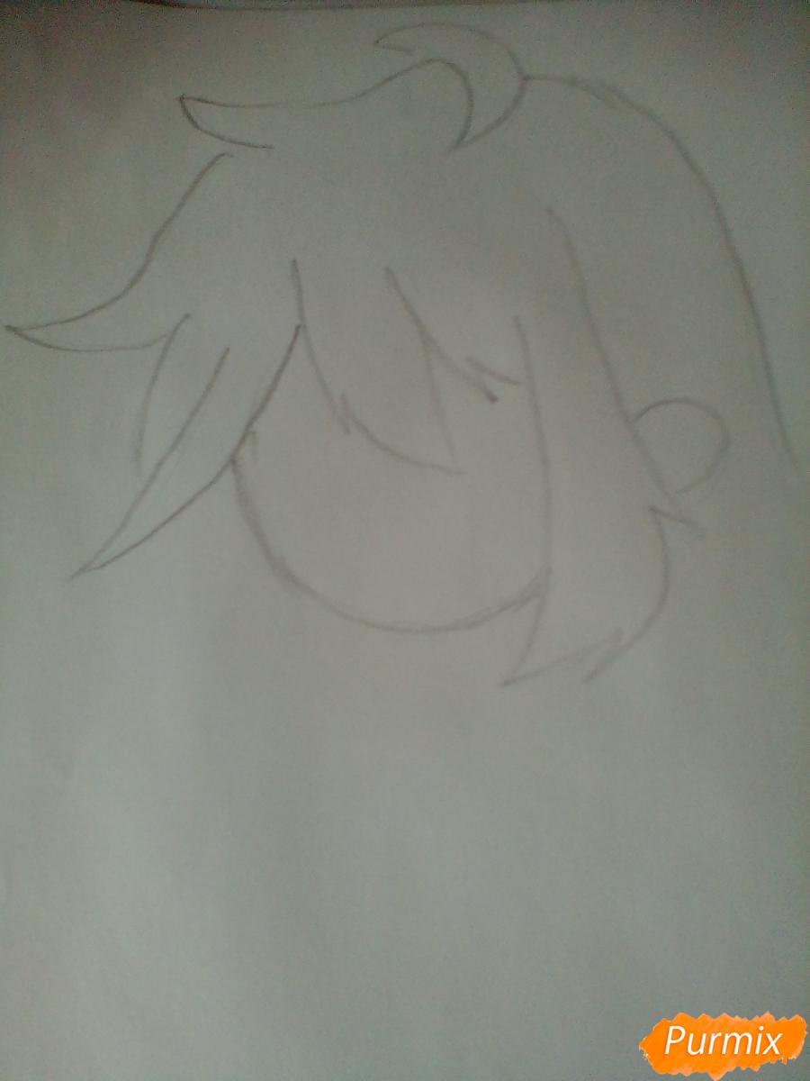 Рисуем и раскрасить Клокворк в стиле чиби - шаг 1