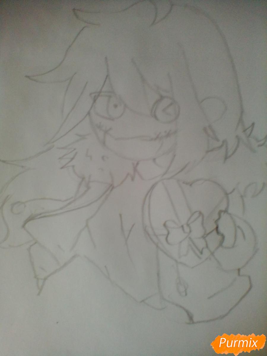 Рисуем и раскрасить Клокворк в стиле чиби - шаг 3
