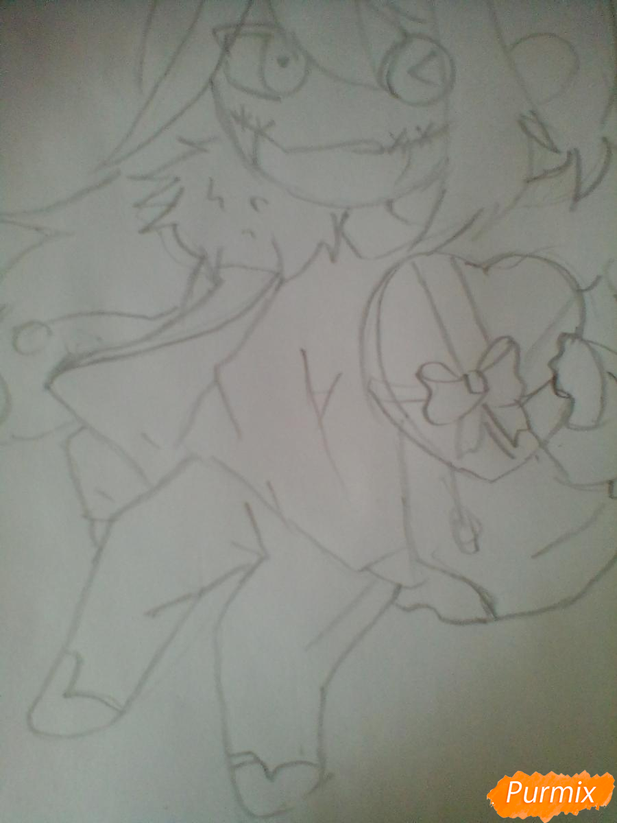 Рисуем и раскрасить Клокворк в стиле чиби - шаг 4