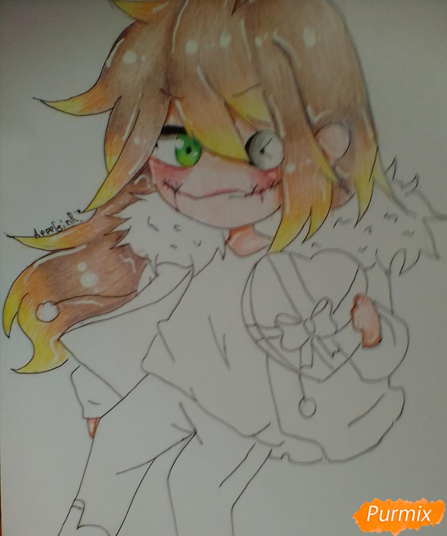 Рисуем и раскрасить Клокворк в стиле чиби - шаг 8