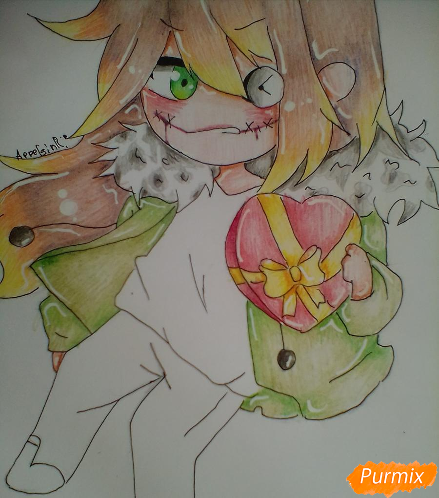 Рисуем и раскрасить Клокворк в стиле чиби - шаг 9