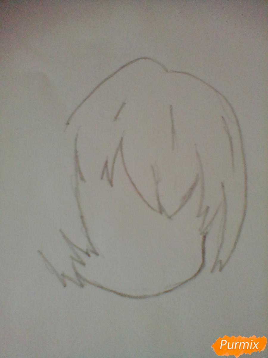Рисуем и раскрасить вокалоида Мику Хацуне в стиле чиби - шаг 1