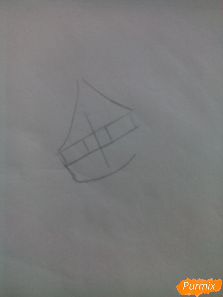 Рисуем Карла Хайнца из дьявольских возлюбленных в стиле чиби - шаг 1