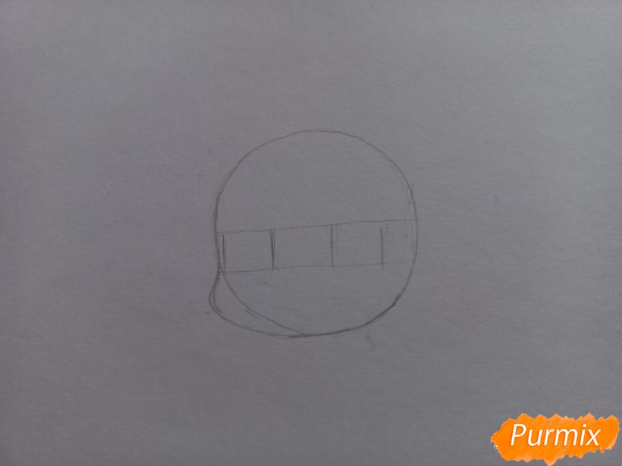 Рисуем Мацуока Рин в стиле чиби из аниме Вольный стиль - шаг 2