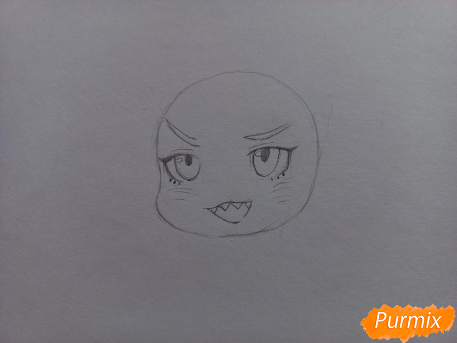 Рисуем Мацуока Рин в стиле чиби из аниме Вольный стиль - шаг 4