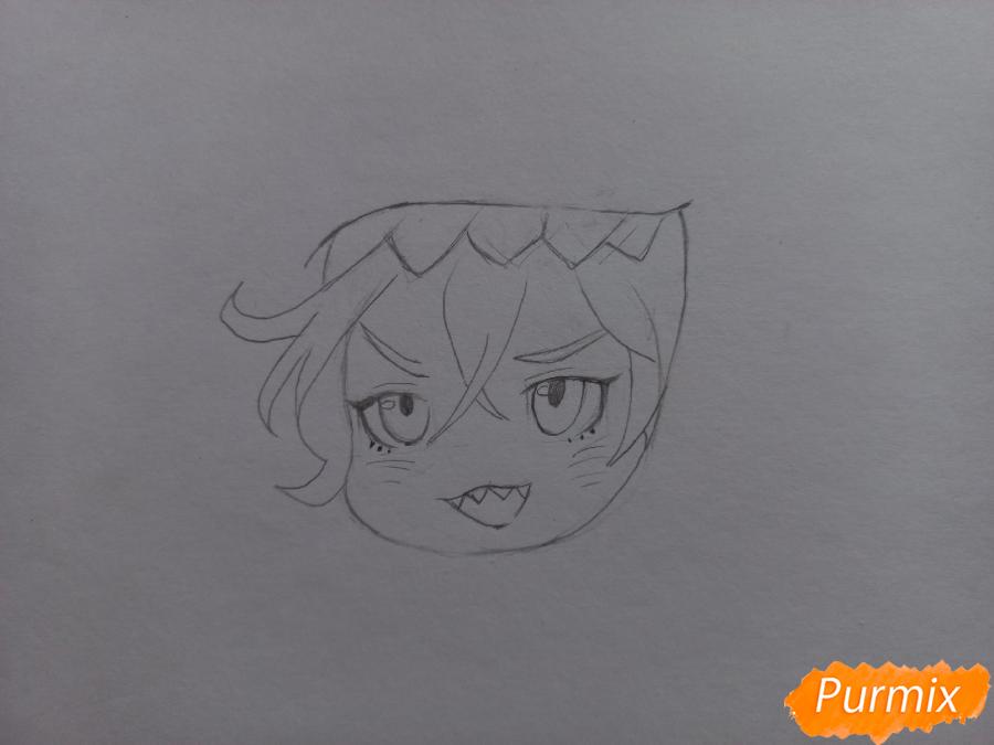 Рисуем Мацуока Рин в стиле чиби из аниме Вольный стиль - шаг 5