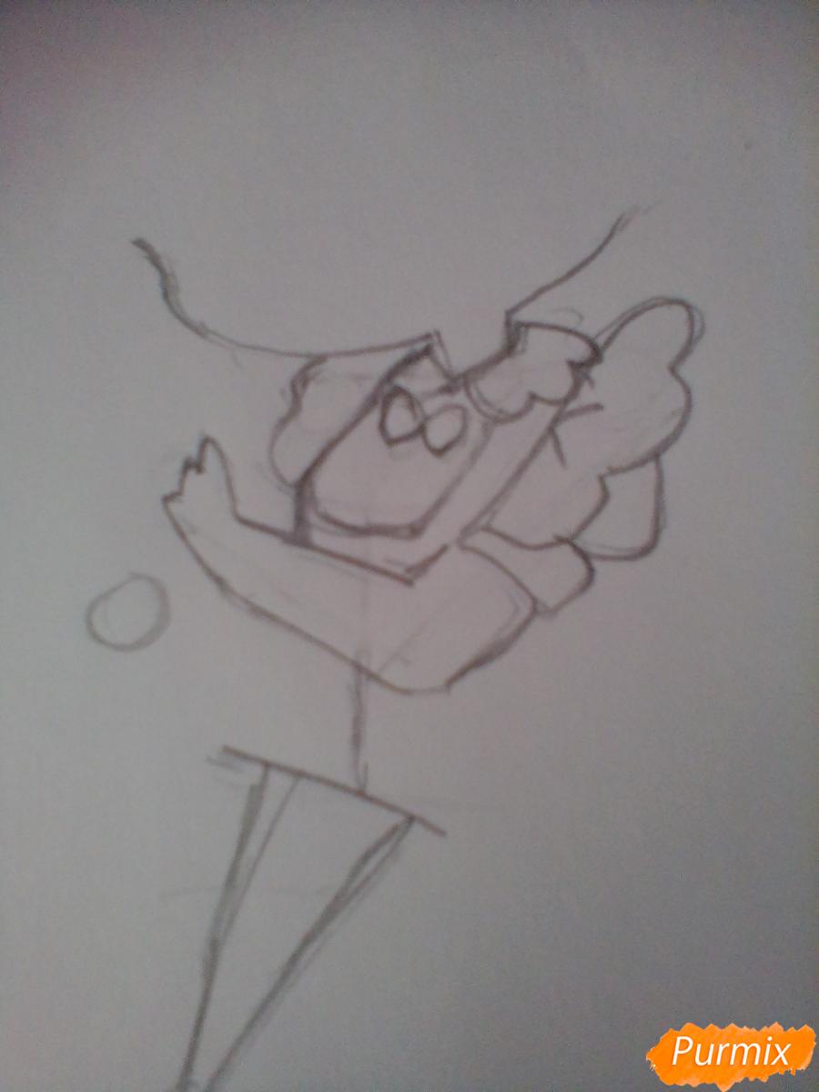 Рисуем медсестру в стиле чиби карандашами - шаг 2