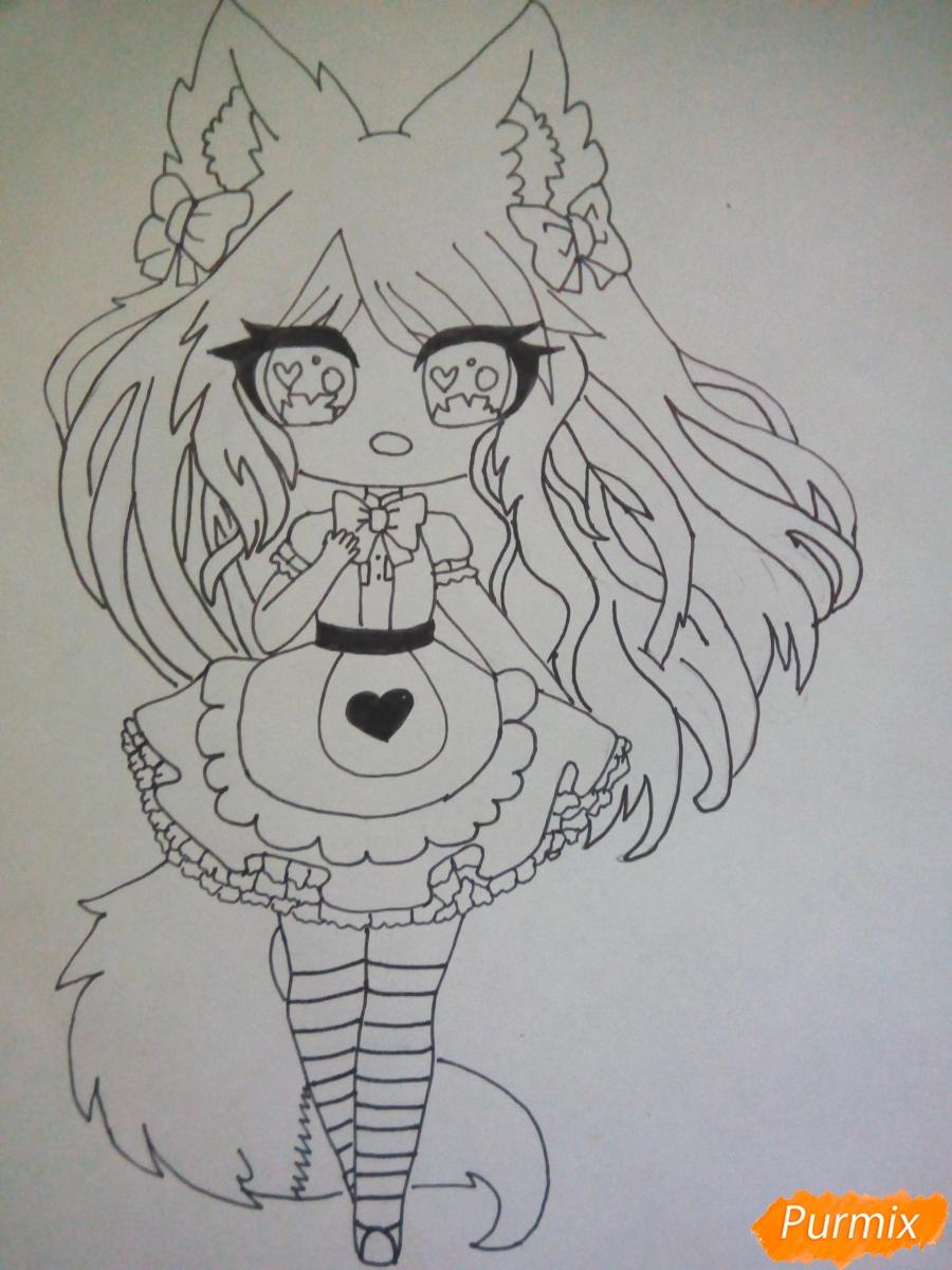 kak-narisovat-miluyu-chibi-devochku-s-bolshimi-glazami-5 Как нарисовать милую чиби девочку карандашом поэтапно