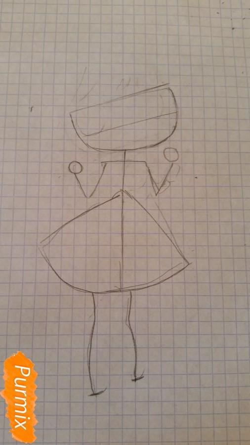 Рисуем новогоднюю чиби девочку - шаг 1