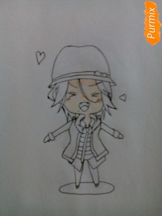 Рисуем Райто Сакамаки в стиле чиби - шаг 5