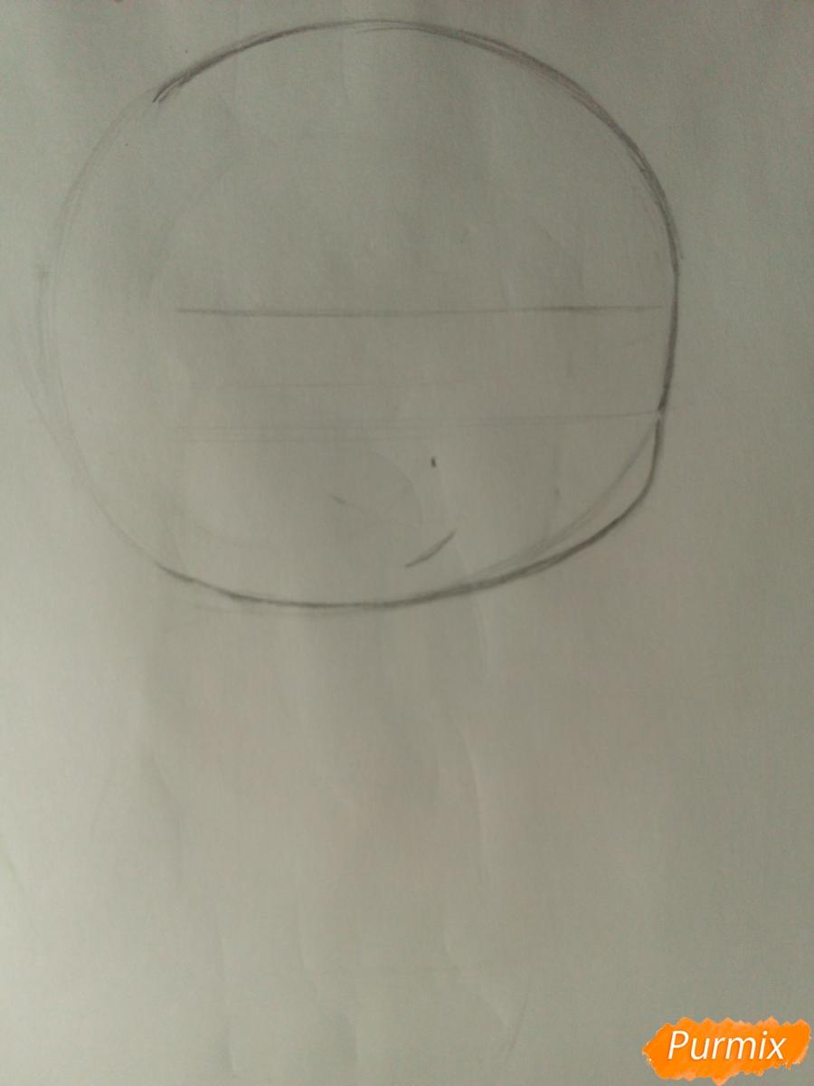 Рисуем Рейджи Сакамаки в стиле чиби - шаг 1