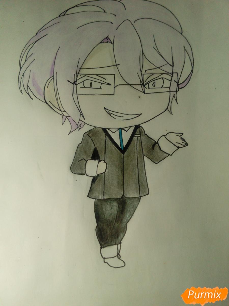 Рисуем Рейджи Сакамаки в стиле чиби - шаг 10