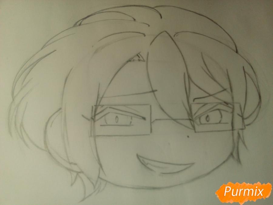 Рисуем Рейджи Сакамаки в стиле чиби - шаг 5